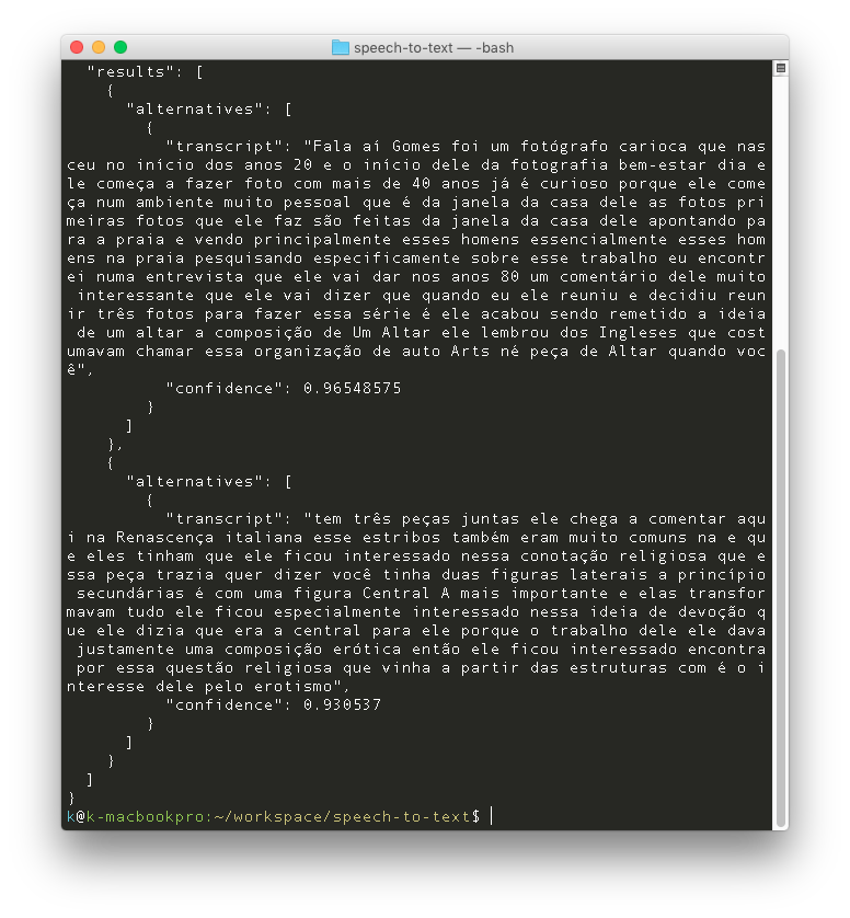 Using Google Speech API to transcribe interviews